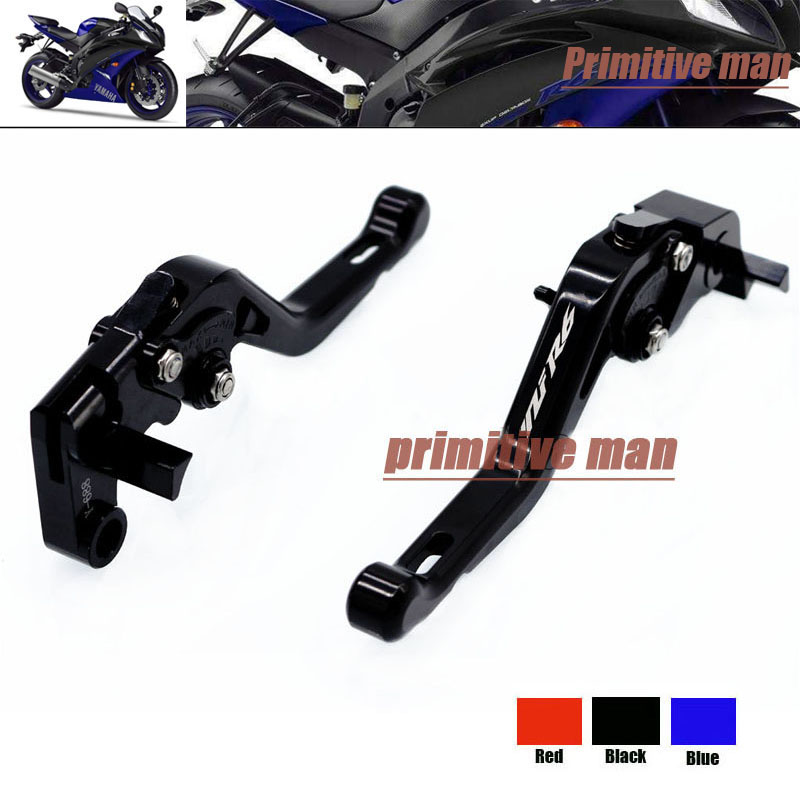 For YAMAHA YZF R6 YZFR6 YZF-R6 2006-2014 Motorcycle Accessories Short Brake Clutch Levers LOGO YZF R6 Black aftermarket free shipping motorcycle parts eliminator tidy tail fit for 2006 2012 yzf r6 yzf r6 yzfr6