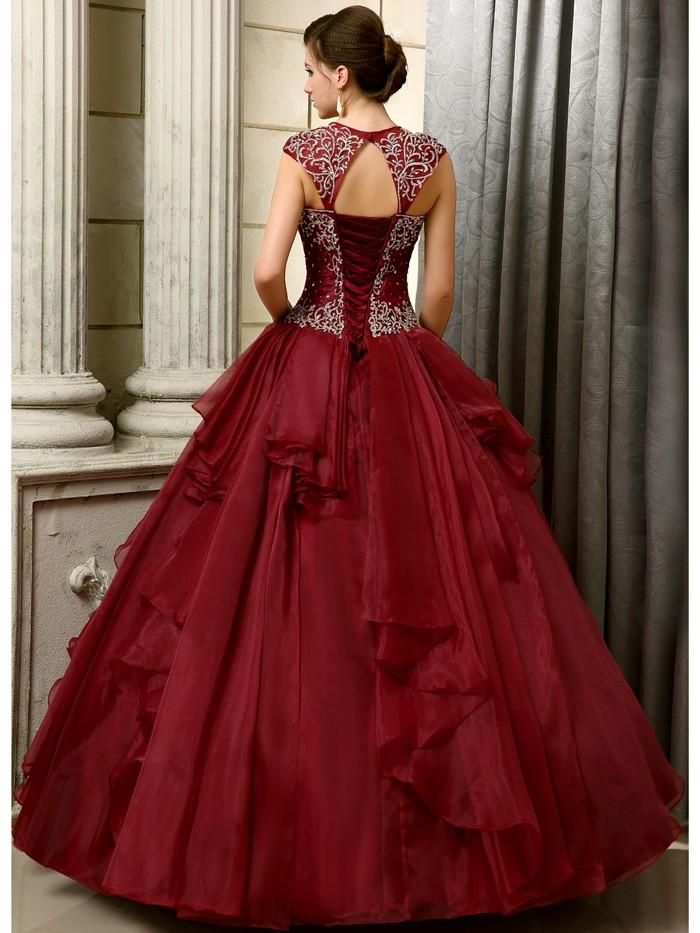 2016-Big-Ball-Gown-Gowns-Burgundy-Long-Floor-Length-Sleeveless-Beaded-Organza-Corset-Sweet-16-Quinceanera (1)