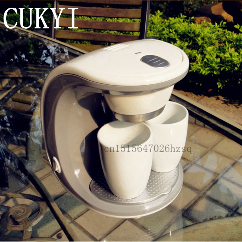 CUKYI electric automatic hourglass Coffee maker drip  Cafe American coffee machine , white cukyi electric automatic hourglass coffee maker drip cafe american coffee machine white