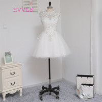 Dressgirl White 2016 Homecoming Dresses A Line Cap Sleeves Short Mini Organza Crystals Open Back Cocktail