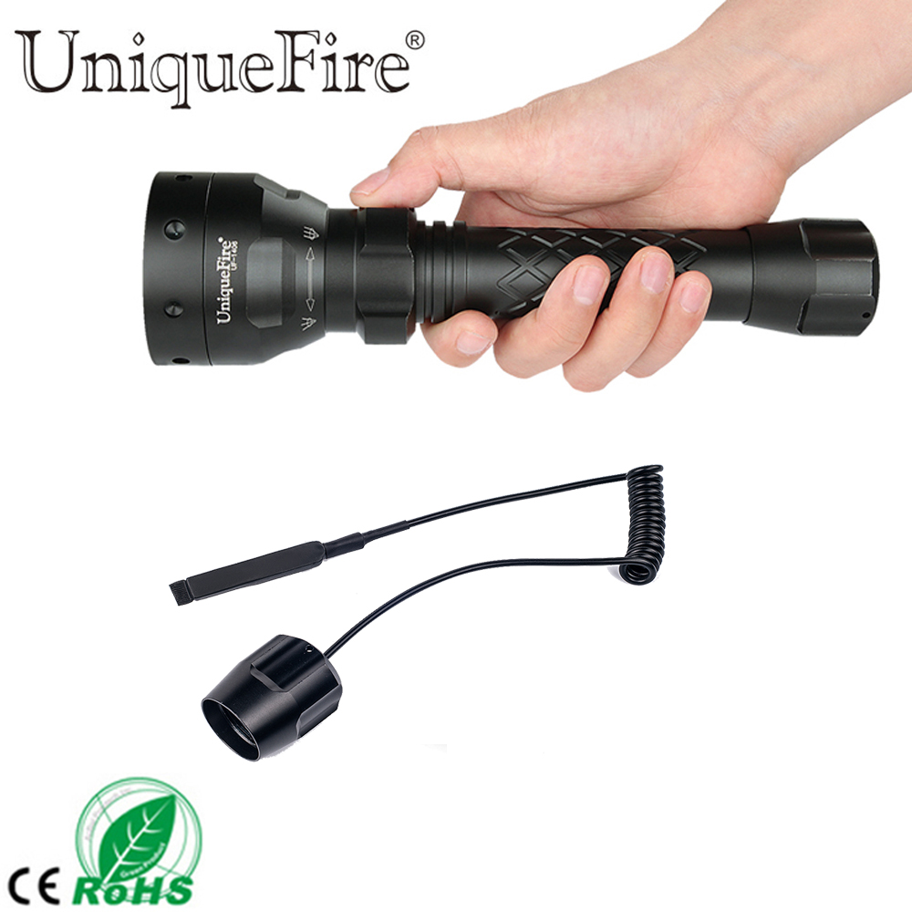 UF 1406 Bright 1200 LM Cree XM-L2 LED Tactical Torch Flashlight, 5 Modes,50mm Zoom Len - Water Resistant, Lighting Lamp+Rat Tail uf 1503 cree xre t50 tactical flashlight 3 modes light water resistant convex lens 50mm lamp torch remote pressure switch