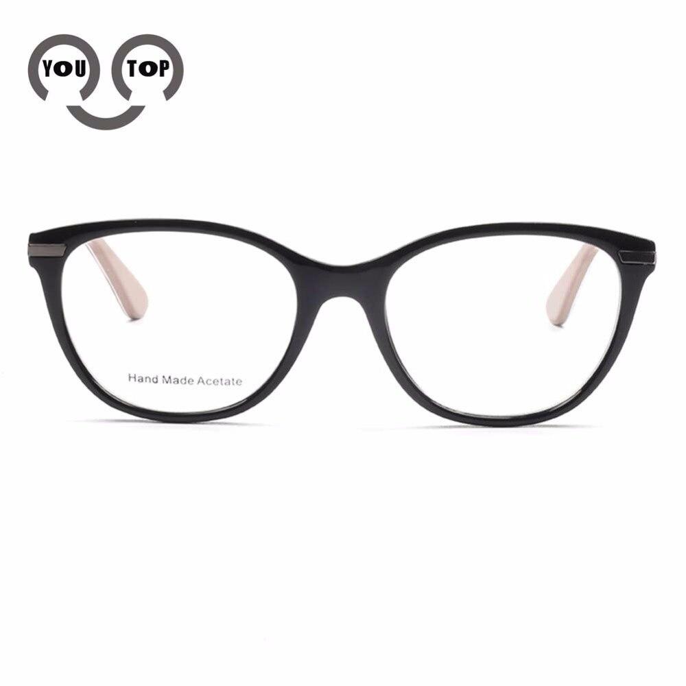 YOUTOP Fashion Optical Frames Hand Made Acetate Spring Hinge Myopia Eyewear Prescription Eye Glasses For Women T001