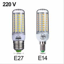 AC 220V SMD5730 E27/E14 LED Lamp Corn Bulb 24 36 48 56 69 72 LEDs bulbs Chandelier Candle Light For living room Home Decoration