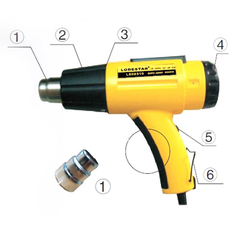 цена на LODESTAR heat Gun 2000W Electric Hot Air Heat Gun Tool+Nozzle Temperature Adjustable lcd heat gun handle hot Air heat gun