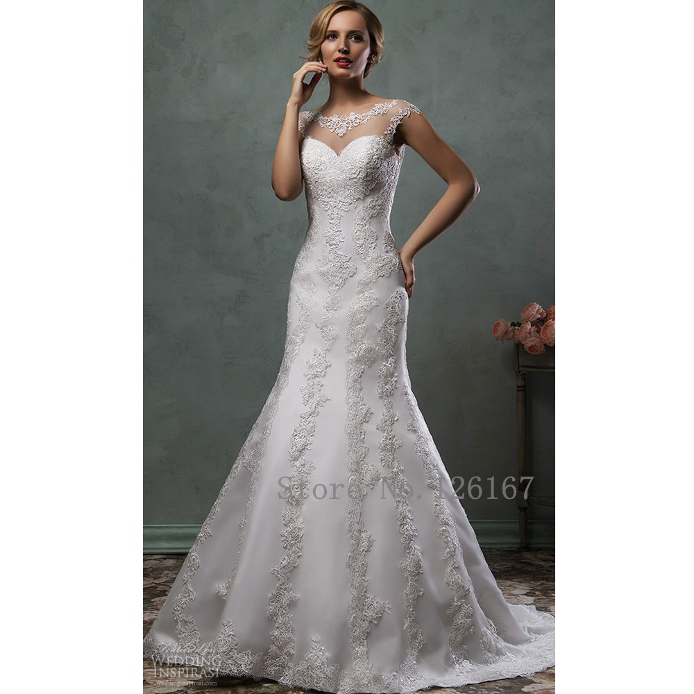 Buy elegant lace wedding dress mermaid for Storing your wedding dress
