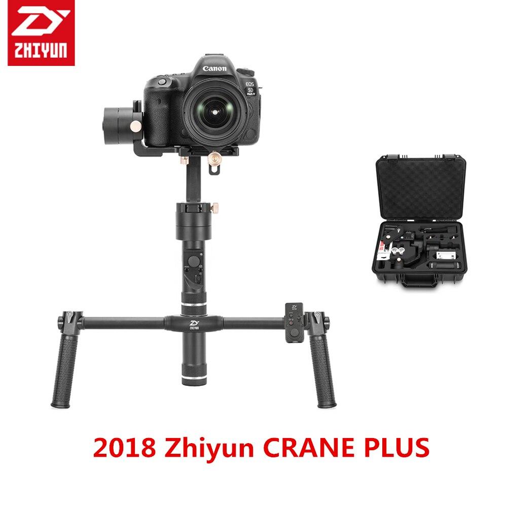 Zhiyun grue + Plus 3 axes double cardan de poche DSLR stabilisateur de cardan 2.5 KG de charge pour DSLR Gyro sans miroir FR SONY A7 A6 GH5 5D4