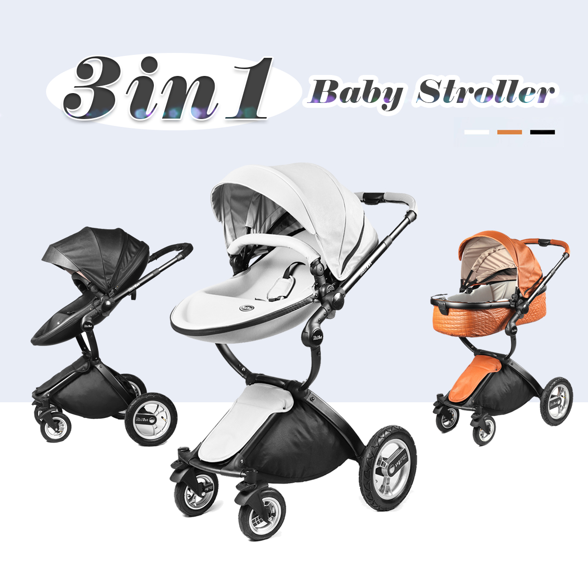 Baby Kids Stroller New Mom 3 in1 Travel System Light Weight Portable Folding Hot цена