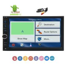 Android7.1 car stereo 2DIN GPS navigation radio two din 1080p video player supports Bluetooth WiFi+Backup Camera headunit no-dvd
