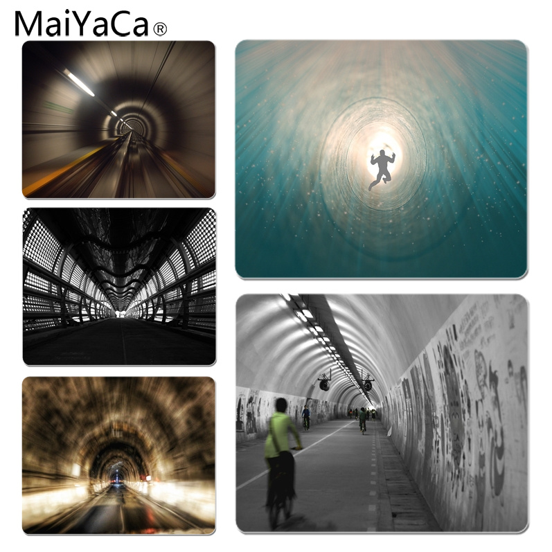 MaiYaCa People Passing Through Time Tunnel Silicone Pad to Mouse Game Size for 25X29cm Gaming Mousepads