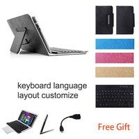 10 1 Inch UNIVERSAL Wireless Bluetooth Keyboard Case For CHUWI Hi10 Keyboard Language Layout Customize