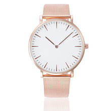 Классические женские и мужские наручные часы со стальным ремешком