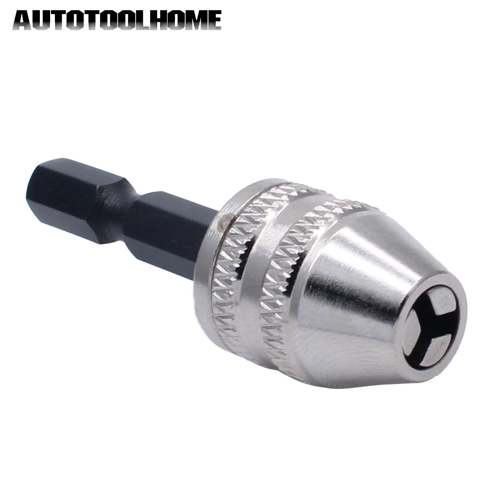0-4mm Keyless Drill Chuck Quick Change Adapter Driver 1/4 Hex Shank For Dremel Accessories Electric Motor Grinder Rotary Tools