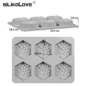 Image 3 - SILIKOLOVE Silicone Mold Bee Soap mold 6 cavity easy to Demolding Handmade Soap Craft For Diy Soap Maker Provide Customizable