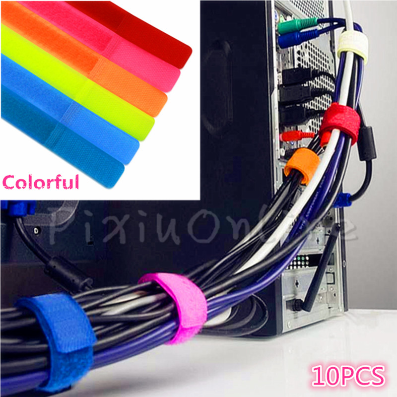10Pcs ST054b Nylon Cable Ties Computer Cable Line Tie 2CM*15CM Colorful Finishing Line Cleaning Tool hot sale ly 600n cable tie gun for nylon cable tie fastening tool for cable tie gun