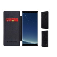 Leather Galaxy Note 8 Case Cover Business Design Style For Samsung Galaxy Note 8 Coque Temperature