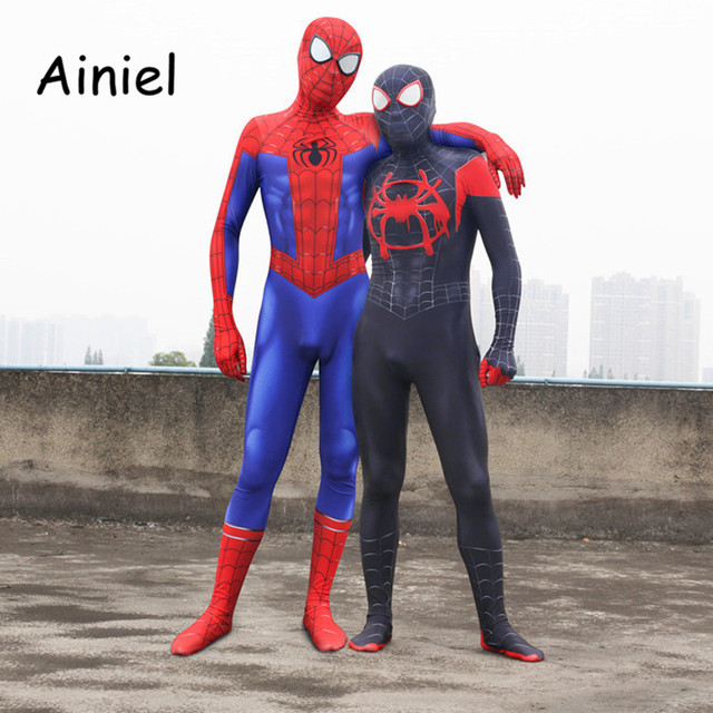 Spider Man Into The Spider Verse Miles Morales Peter Parker Cosplay