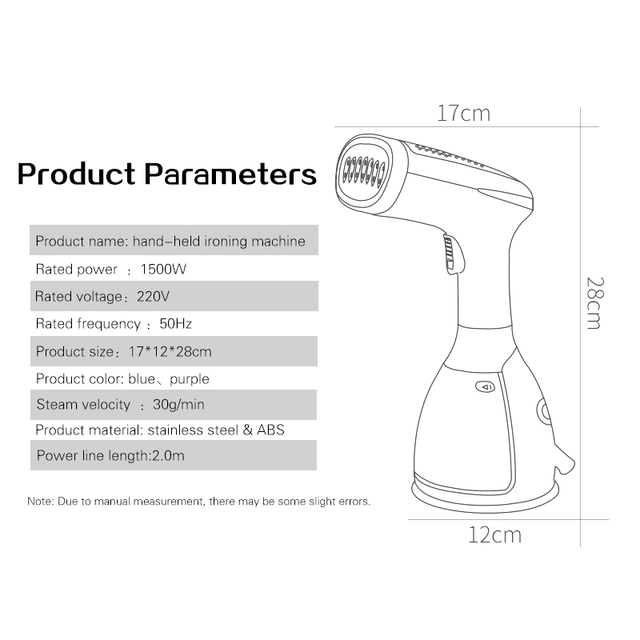TNTON LIFE Handheld Fabric Steamer 15 Seconds Fast-Heat 1500W Powerful Garment Steamer for Home Travelling Portable Steam Iron Garment Steamers