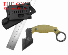 The One Unicorn Karambit Knife Fixed AUS-8 Blade Knife Pocket Knife Survival Tactical Knives Camping Outdoor Tools Kydex Sheath