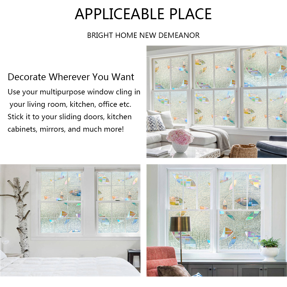 Decorative Films Funlife 3d Privacy Window Film Decora Window Cling Anti-uv Glass Film Non-adhesive Vinyl Window Sticker For Living Room Office