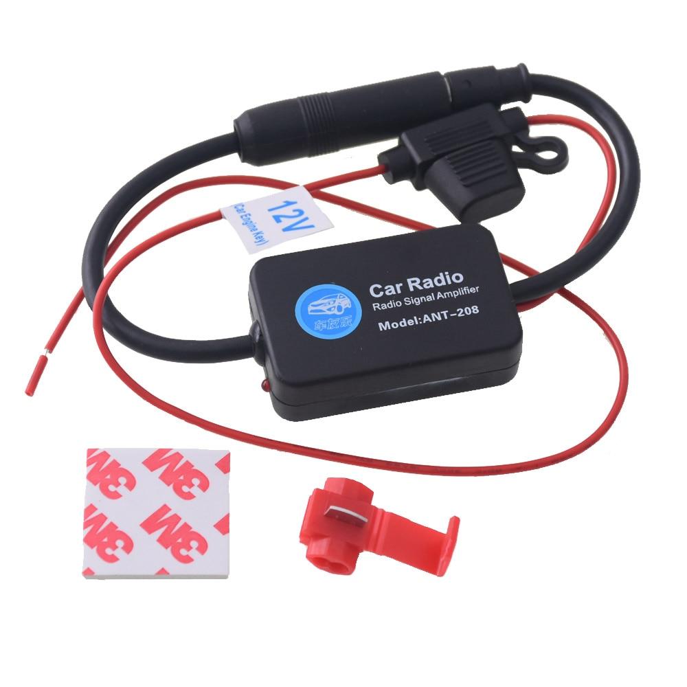 Universal Car Radio Aerials Auto Car FM Antenna Amplifier Signal Amp Booster 12V Radio FM for Car Boat fm belkin tunecast auto universal f8z439ea