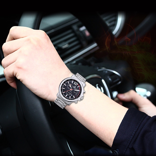 Fashion Creative Sport Mens Watches Top Brand Luxury Racing Male Quartz Wristwatch Luminous Student Steel Strap Watch Men CASIMA