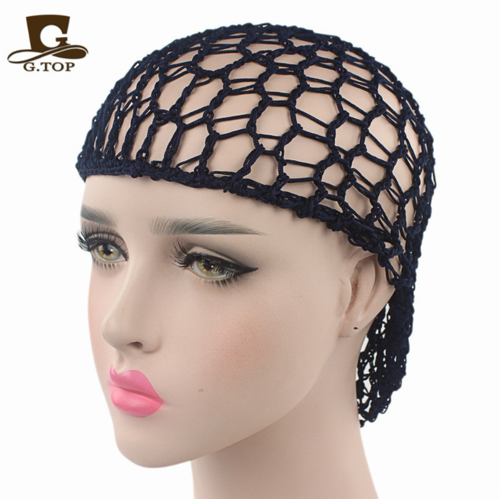 Beautiful Lady Hand Crocheted Hair Net Mesh Hair Cap Cap Korean/korean Style Gathertop Net Bag Hair Act The Role Ofing Wholesale Great Varieties Hairnets