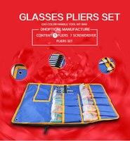 glasses pliers set super value 9 matt glasses pliers +7 screwdriver +1 ruler good quality low price
