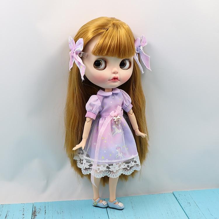 Neo Blythe Doll Unicom Lavender Dress 1