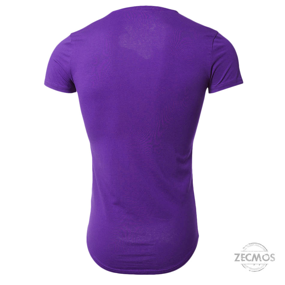Zecmos Deep V Neck Sexy Men T-Shirt Vintage Short Sleeve Solid Color Muscle Fit T Shirt Men Top Tees Fashion 39