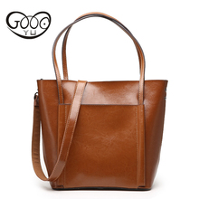 GOOG.YU Brand Genuine Leather Women Bags Casual Handbags Messenger Bag Large Shoulder bags Designer Vintage Bag Bolsas femininas