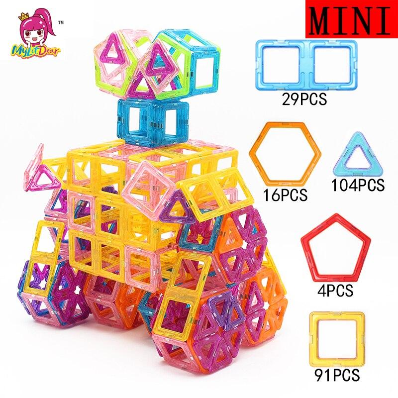 Mylitcher 245 pièces Mini blocs magnétiques éducatifs ensemble de Construction modèles et jouet de Construction ABS aimant Designer enfants cadeau-in Magnétique from Jeux et loisirs    1