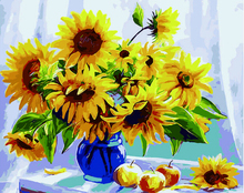 "DIY Painting By Number – Sunflower (16""x20"" / 40x50cm)"