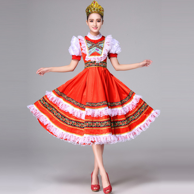 13dd771d4671 Russian national dance clothing foreign costumes European court princess  maid costumes