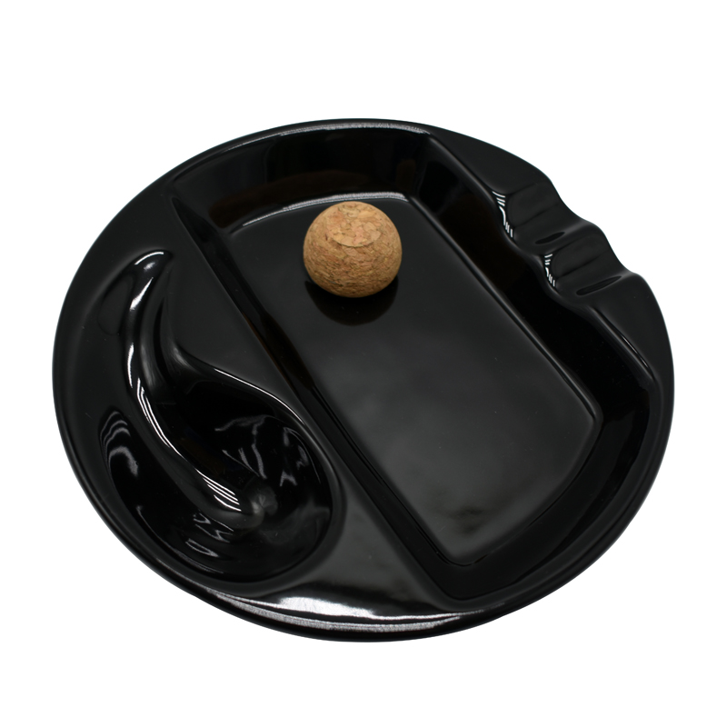 Rond 2 repose cigare cendrier haut de gamme céramique fumoir cendrier accessoires cigare fumoir cendrier extérieur ceniceros para el hogar