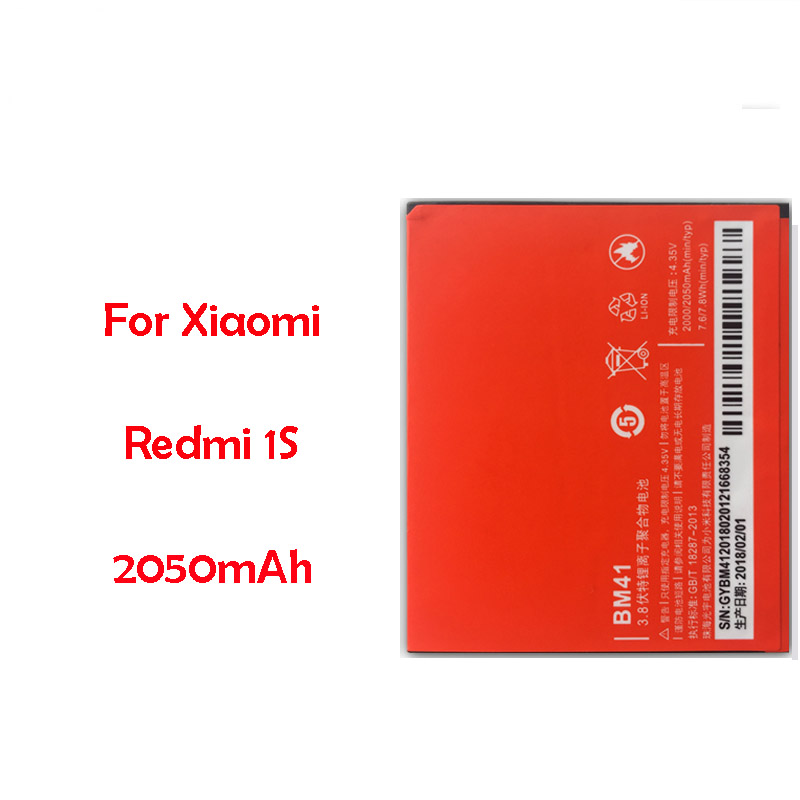 <font><b>Original</b></font> BM41 Replacement <font><b>Battery</b></font> For <font><b>Xiaomi</b></font> <font><b>Redmi</b></font> <font><b>1S</b></font> Real Capacity 2050mAh Li-ion Phone <font><b>Battery</b></font> image