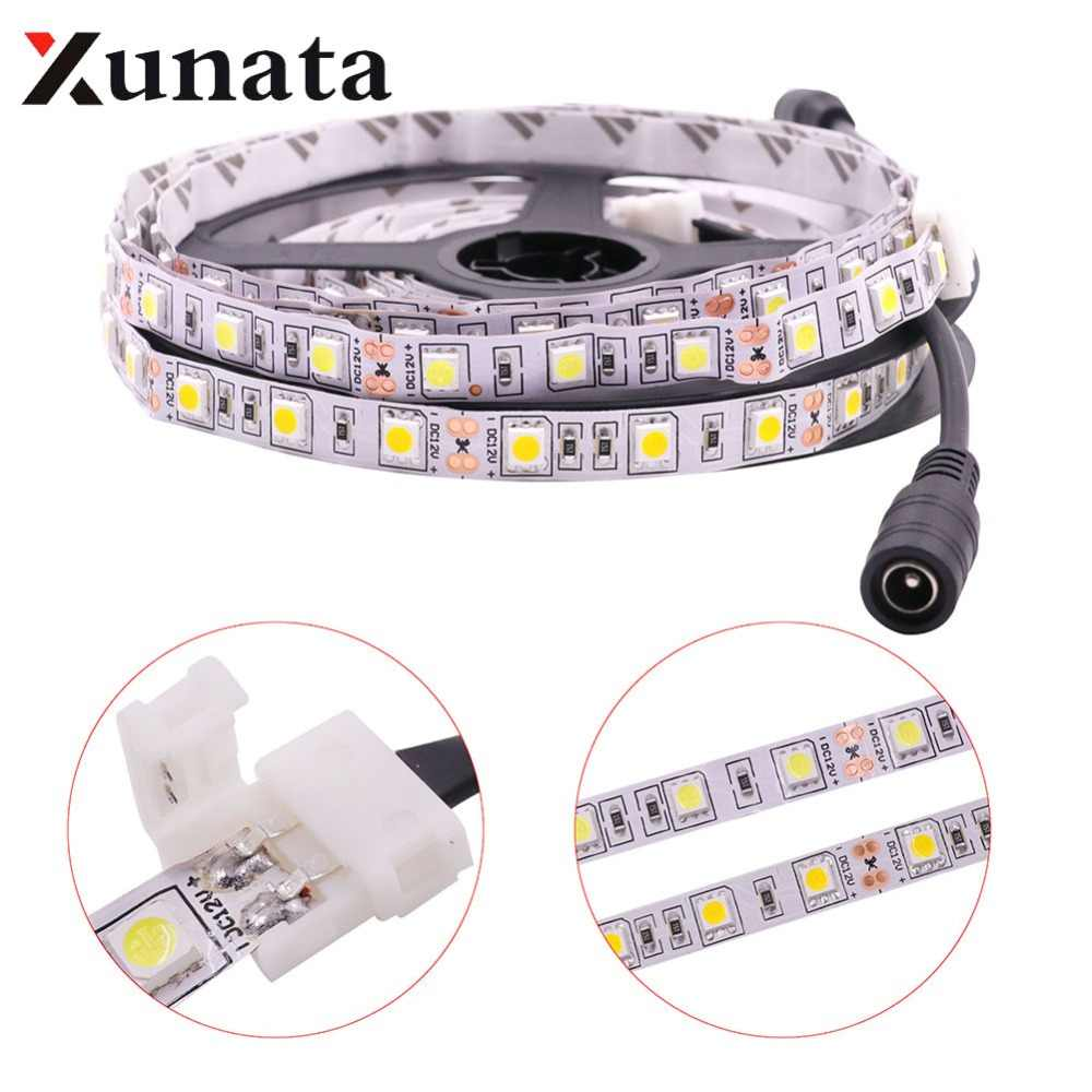 0.5 M/1 M/2 M/3 M/4 M/5 M Super Heldere 5054 flexibele Led Strip Licht Tape Luces DC12V 60 Leds/M 5050 Wit/Warm Wit Led Strip