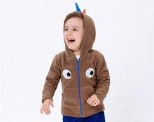 New Dinosaur Kids Jacket Boys Children Zipper Coat Boys Spring Winter Fleece Outwear Toddler Hooded Clothes For Boys KW-1640-2