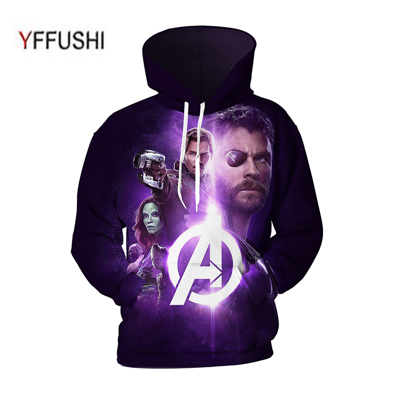 YFFUSHI 2018 Cool Male 3d Hoody Men Supermen 3d Sweatshirt Hot Sale super Hero Print Hip Hop Hooded Pullovers Plus Size 5XL