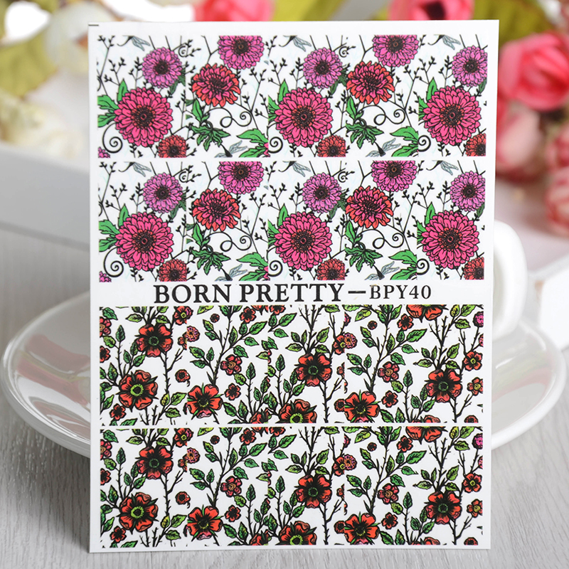 Aliexpress buy 2 patternssheet born pretty flower aliexpress buy 2 patternssheet born pretty flower chrysanthemum nail art water decals transfer sticker bpy40 from reliable sticker glue suppliers on mightylinksfo