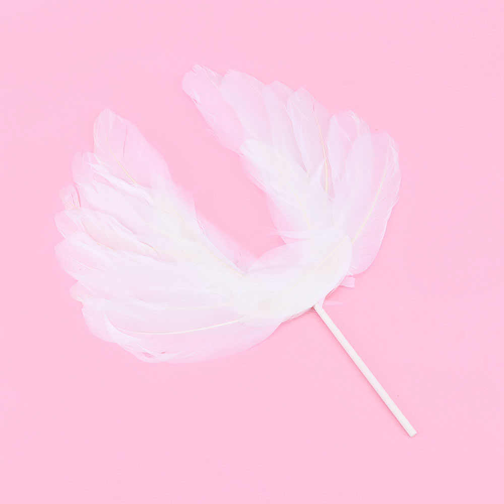 1 шт. кекс торт Топпер карты Мода милый ангел белые крылья из перьев торт Декор Новогодняя вечеринка Декор висячие украшения