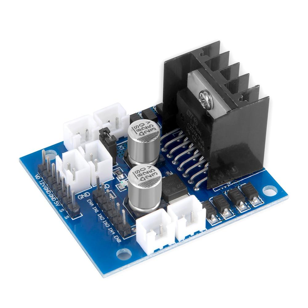 US $8 3 9% OFF|OSOYOO Model X Motor Driver Module Dual H Bridge Stepper  Motor Driver Board for Arduino Smart Robot Car 5 35V Drive voltage-in Demo