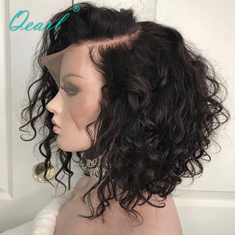 Preplucked 13x6 Deep Long Side Part Short Lace Front Human Hair Wigs Indian Remy Hair Wigs