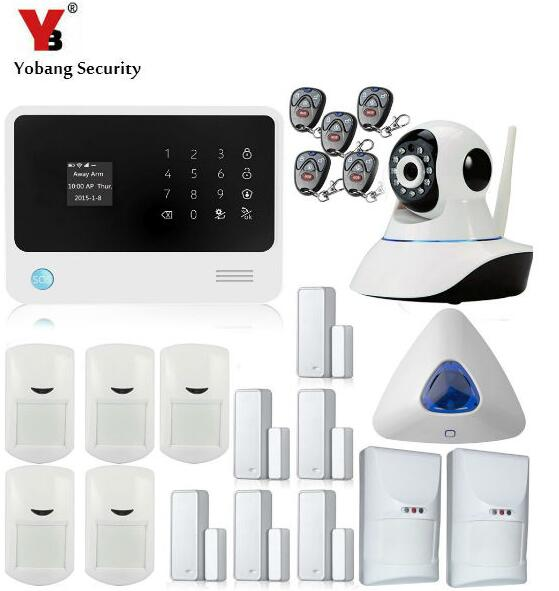 Yobang Security- WIFI GSM Alarm Wireless Smart App Control Home Security SMS Alarm Support IP Camera Strobe Siren Fire Alarm yobang security rfid gsm gprs alarm systems outdoor solar siren wifi sms wireless alarme kits metal remote control motion alarm