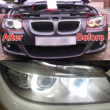 2*20W H8 CREE R4 Chips LED Angel Eye Halo Bulb Light 6500K for BMW E92 E93 E90 X5 White Error Free about 1200Lm each  12v 24v 20w cree chips led angel eye light halo lights error free for bmw e90 e91 7000k white 1250lmcree chips led marker lights