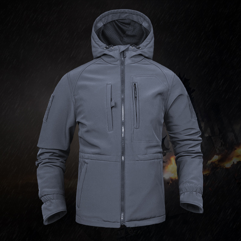 V8 Soft Shell Tactical Training Jacket Winter Outdoor Sports Cycling Climbing Windproof Waterproof Army Fans Windbreaker