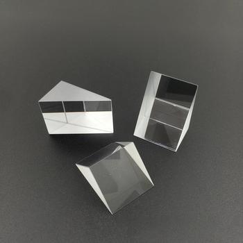 10mm x 10mm x 10m szkło optyczne trójkątne pryzmaty kątowe pryzmaty soczewki optyczne K9 szklany materiał przyrząd do testowania tanie i dobre opinie Cube Prism Laser Beam glass other 10mm x 10mm x 10mm VAHIGCY