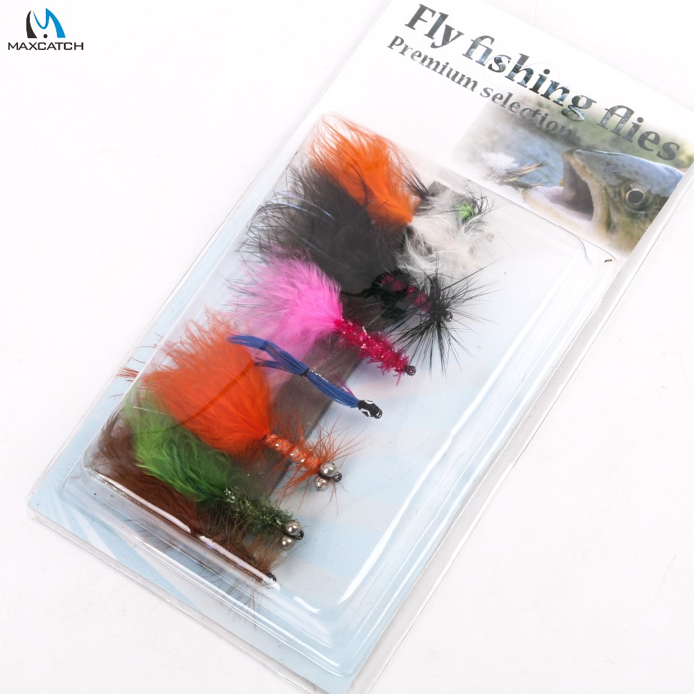Maximumcatch Nymph Rainbow Trout Flies 2# 6# 8 Patterns Assortment Fly Fishing