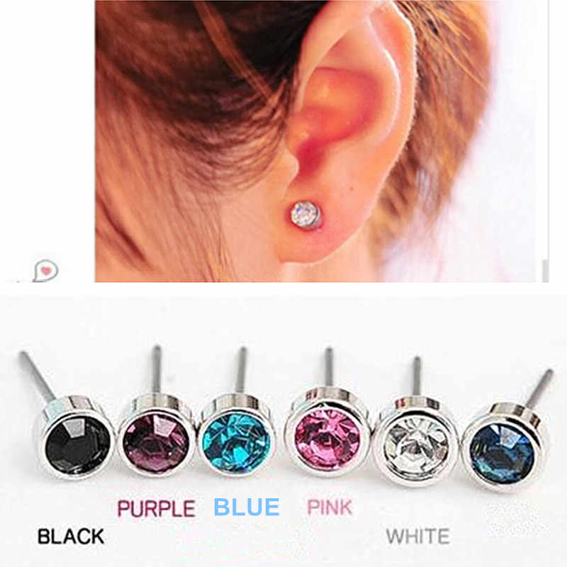 ES003 Hot Selling New Fashion Cute Little Simple Crystal Stud Earrings STRING For Women Cheap Jewelry Accessories Wholesale