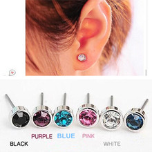 ES0003 Hot Selling New Fashion Cute Little Simple Crystal Stud Earrings STRING For Women Cheap Jewelry