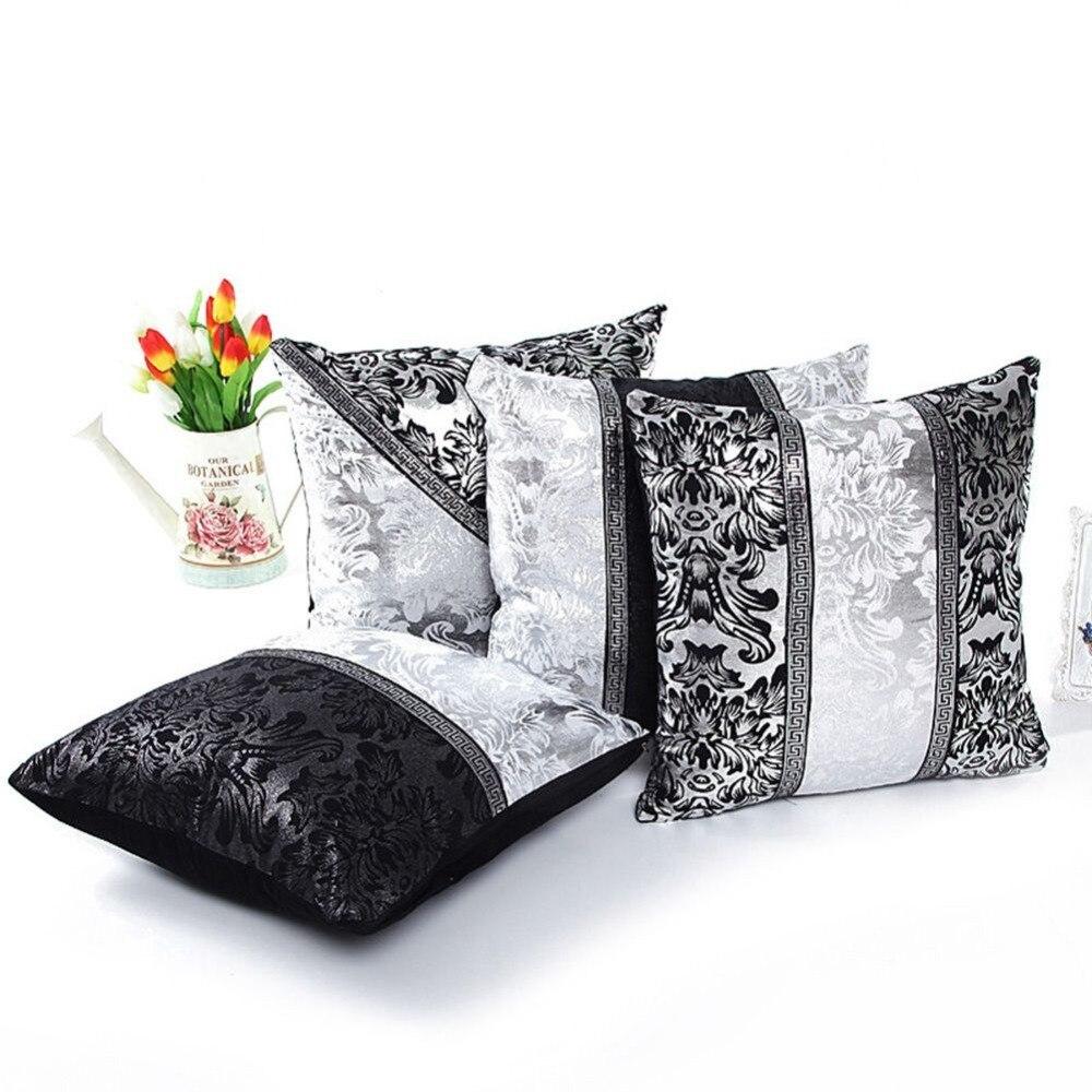 Vintage Black Silver Throw Pillow Case Cushion Cover Sofa Home Car Decor In From Garden On Aliexpress Alibaba Group